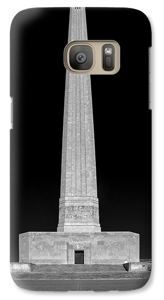 Galaxy Case featuring the photograph San Jacinto Star Black And White by Joshua House