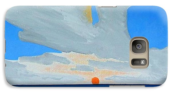 Galaxy Case featuring the painting San Juan Sunrise by Dick Sauer