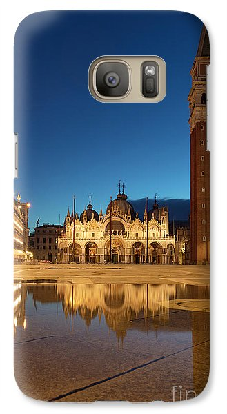 Galaxy Case featuring the photograph San Marco Twilight by Brian Jannsen