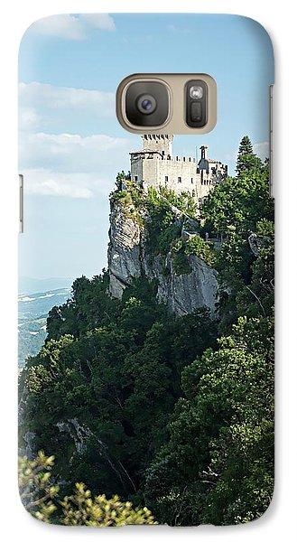 Galaxy Case featuring the photograph San Marino - Guaita Castle Fortress by Joseph Hendrix