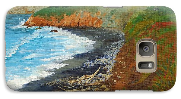 Galaxy Case featuring the painting San Simeon Ca Coast by Katherine Young-Beck