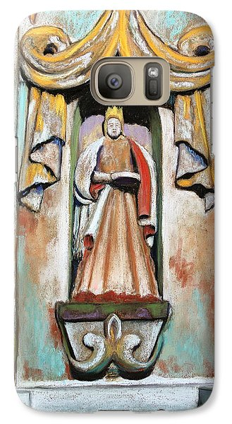 Galaxy Case featuring the painting San Xavier Statue by M Diane Bonaparte