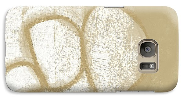 Camel Galaxy S7 Case - Sand And Stone 1- Contemporary Abstract Art By Linda Woods by Linda Woods
