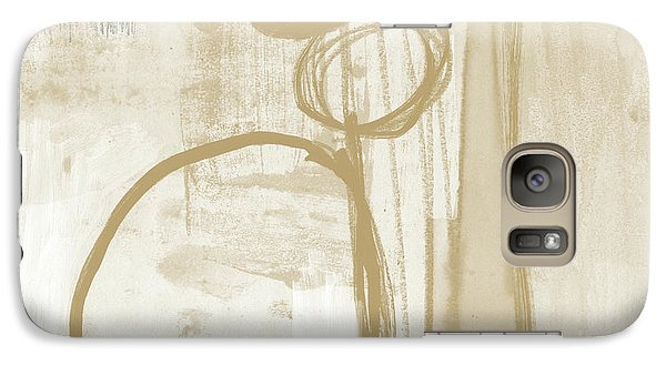 Camel Galaxy S7 Case - Sand And Stone 2- Contemporary Abstract Art By Linda Woods by Linda Woods
