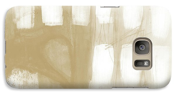 Camel Galaxy S7 Case - Sand And Stone 4- Contemporary Abstract Art By Linda Woods by Linda Woods