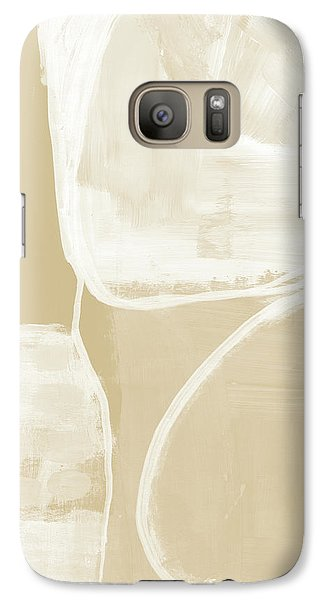 Camel Galaxy S7 Case - Sand And Stone 5- Contemporary Abstract Art By Linda Woods by Linda Woods