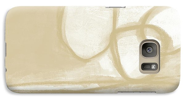 Camel Galaxy S7 Case - Sand And Stone 6- Contemporary Abstract Art By Linda Woods by Linda Woods