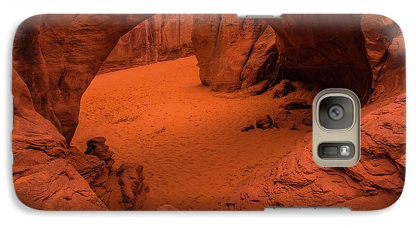 Galaxy Case featuring the photograph Sand Dune Arch - Arches National Park - Utah by Gary Whitton
