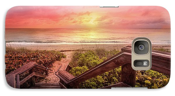 Galaxy Case featuring the photograph Sand Dune Morning by Debra and Dave Vanderlaan