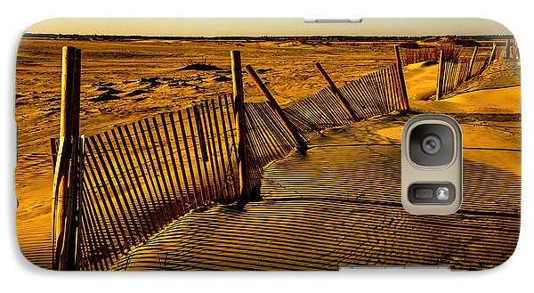 Galaxy Case featuring the photograph Sand Fences At Lands End II by John Harding