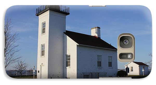 Galaxy Case featuring the photograph Sand Point Lighthouse In Escanaba by Charles and Melisa Morrison