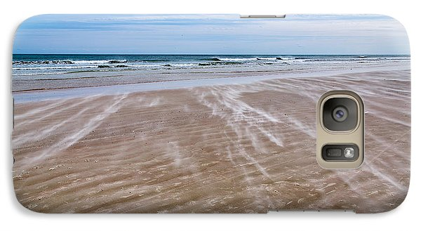 Galaxy Case featuring the photograph Sand Swirls On The Beach by John M Bailey