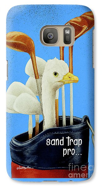 Ostrich Galaxy S7 Case - Sand Trap Pro ... Phone Cover by Will Bullas