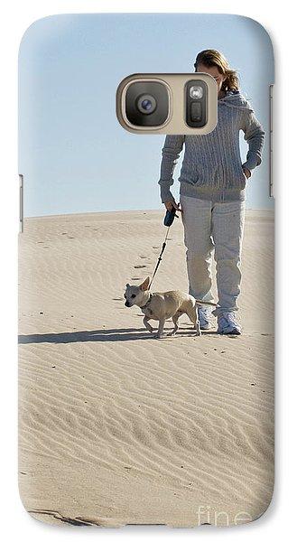 Galaxy Case featuring the photograph Sand Walk by Tara Lynn