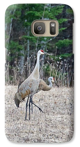 Galaxy Case featuring the photograph Sandhill Cranes 1166 by Michael Peychich