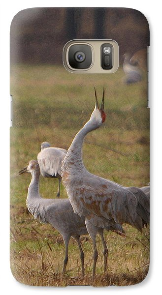 Galaxy Case featuring the photograph Sandhill Delight by Shari Jardina