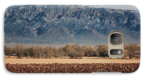 Galaxy Case featuring the photograph Sandias - Los Poblanos Fields by Nikolyn McDonald