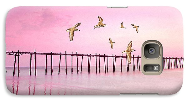 Sandpiper Galaxy S7 Case - Sandpiper Sunset by Laura D Young
