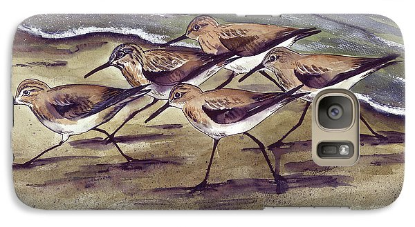 Galaxy Case featuring the painting Sandpipers by Nancy Patterson