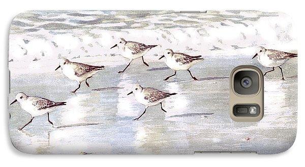 Sandpipers On Siesta Key Galaxy Case by Shawn McLoughlin