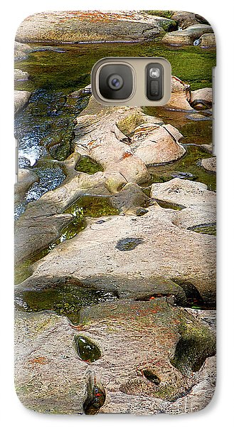 Galaxy Case featuring the photograph Sandstone Creek Bed by Sharon Talson