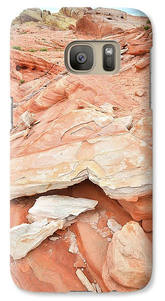 Galaxy Case featuring the photograph Sandstone Heart In Valley Of Fire by Ray Mathis