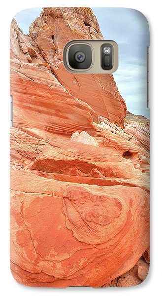 Galaxy Case featuring the photograph Sandstone Pillar In Valley Of Fire by Ray Mathis
