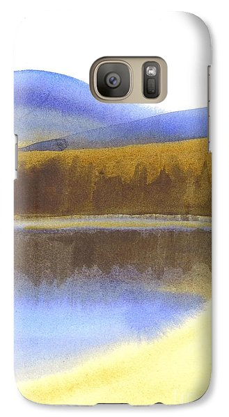 Galaxy Case featuring the painting Sandy Blue Dusky Mountain Lake by Kip DeVore