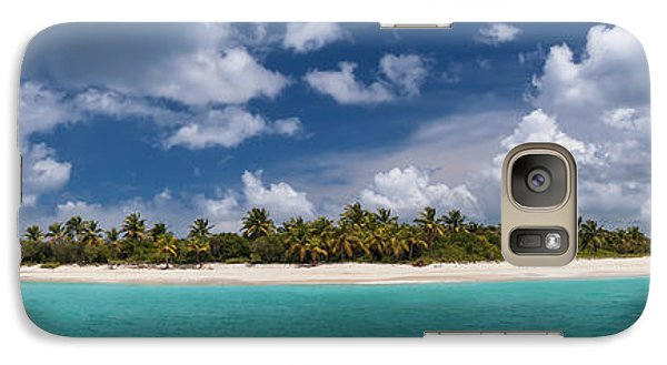 Galaxy Case featuring the photograph Sandy Cay Beach British Virgin Islands Panoramic by Adam Romanowicz