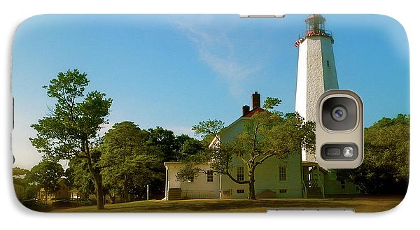 Galaxy Case featuring the photograph Sandy Hook Lighthouse by Iconic Images Art Gallery David Pucciarelli
