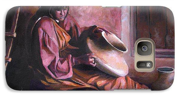 Galaxy Case featuring the painting Santa Clara Potter by Nancy Griswold