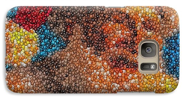 Galaxy Case featuring the mixed media Santa Claus Mm Candy Mosaic by Paul Van Scott