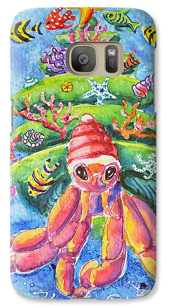 Galaxy Case featuring the painting Santa Crab by Li Newton
