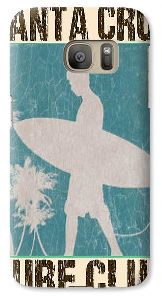 Galaxy Case featuring the digital art Santa Cruz Surf Club by Greg Sharpe