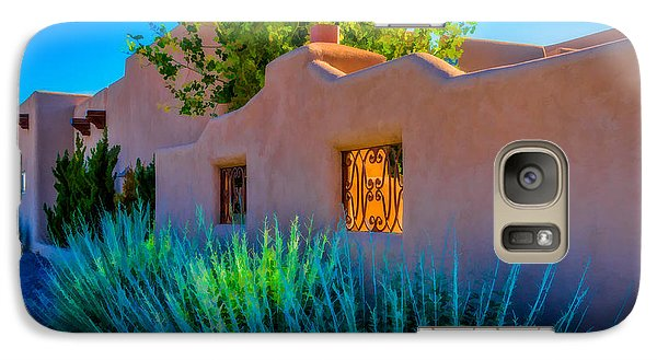 Galaxy Case featuring the photograph Santa Fe Adobe by Ken Stanback