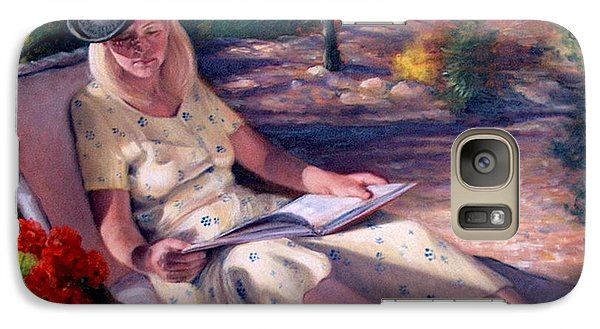 Galaxy Case featuring the painting Santa Fe Garden 1 by Donelli  DiMaria