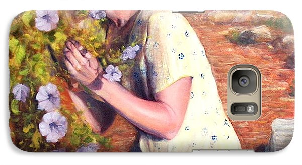 Galaxy Case featuring the painting Santa Fe Garden 2   by Donelli  DiMaria