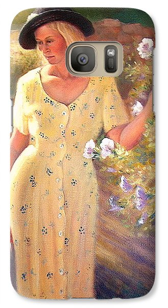 Galaxy Case featuring the painting Santa Fe Garden 3   by Donelli  DiMaria