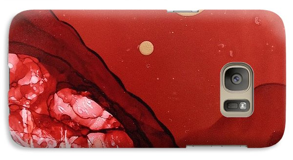 Galaxy Case featuring the painting Santa Fe Moonrise by Suzanne Canner