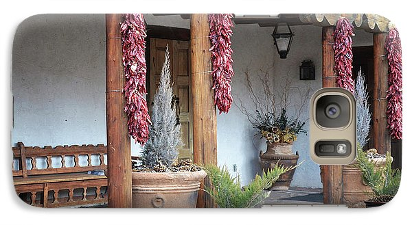 Galaxy Case featuring the photograph Santa Fe Red Chili Ristra Porch by Andrea Hazel Ihlefeld