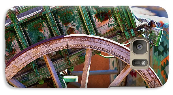 Galaxy Case featuring the photograph Santa Fe Spokes by Stephen Anderson