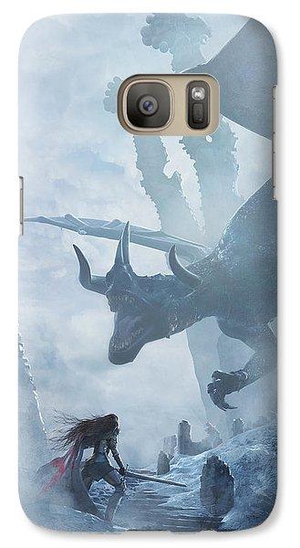 Knight Galaxy S7 Case - Santa Georgina Vs The Dragon by Guillem H Pongiluppi