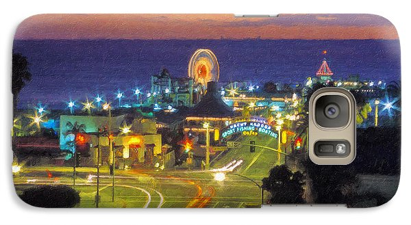 Galaxy Case featuring the photograph Santa Monica Ca  Pacific Park Pier by David Zanzinger