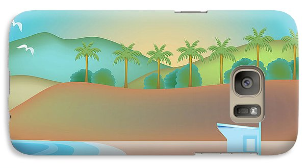 Santa Monica California Horizontal Scene Galaxy S7 Case