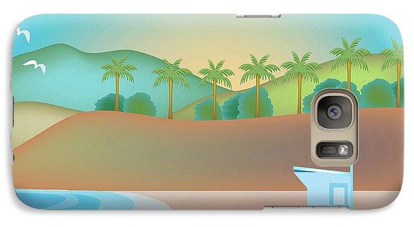 Santa Monica California Horizontal Scene Galaxy S7 Case