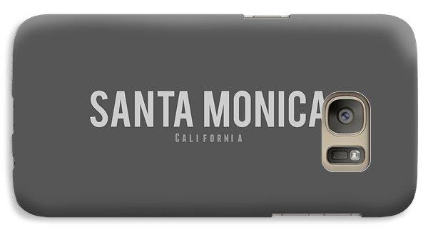 Galaxy Case featuring the photograph Santa Monica California by Sean McDunn