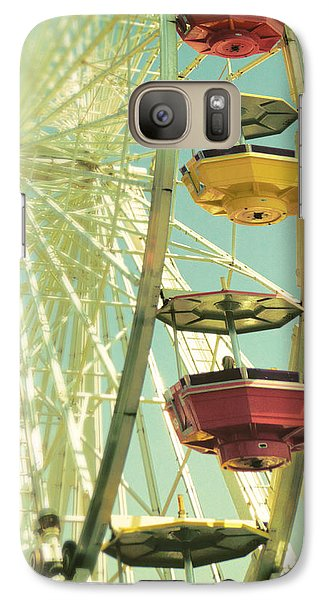 Galaxy Case featuring the photograph Santa Monica Ferris Wheel by Douglas MooreZart