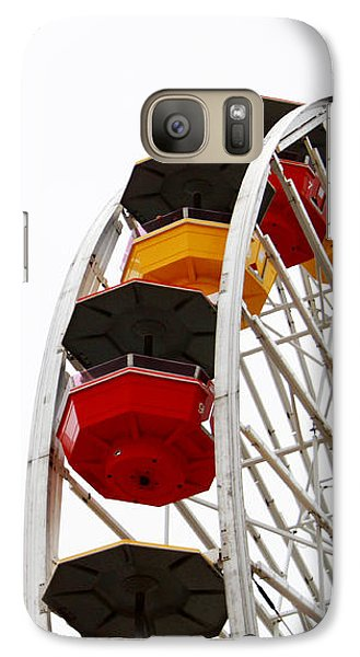 Santa Monica Pier Ferris Wheel- By Linda Woods Galaxy S7 Case