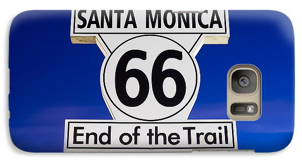 Santa Monica Route 66 Sign Galaxy S7 Case by Paul Velgos