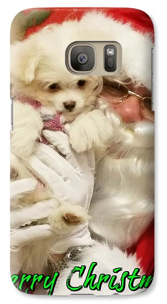 Galaxy Case featuring the painting Santa Paws  by Darren Robinson